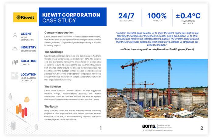 Kiewit Corporation case study document preview